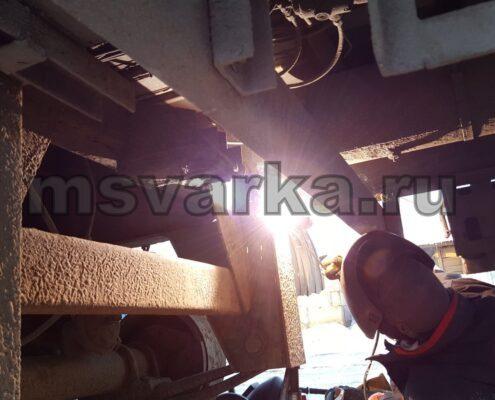 Сварка рамы грузовой машины