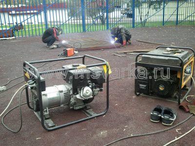 услуги сварки с генератором