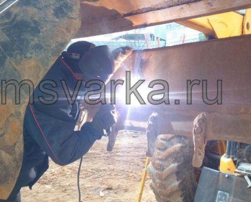 ремонт и сварка ковша погрузчика