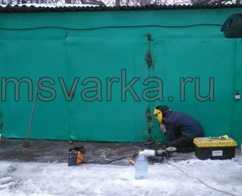 ремонт и сварка петель на воротах