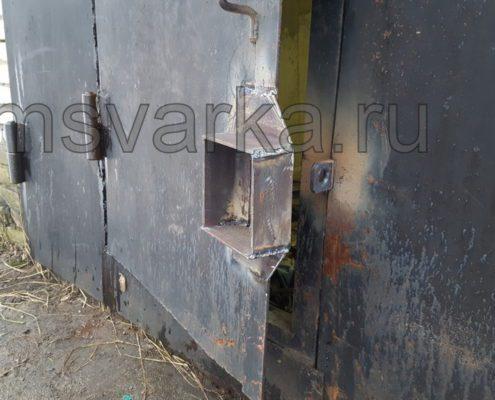 установка и сварка замка на воротах