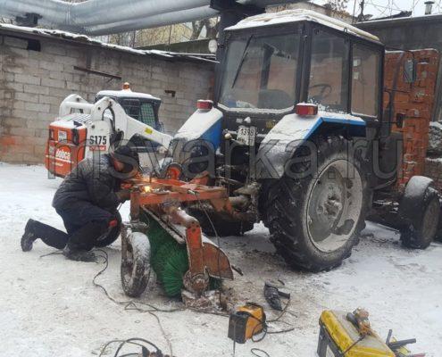 заварить раму на тракторе