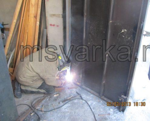 ремонт просадки ворот гаража