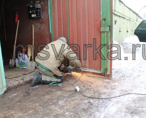 ремонт просадки гаражных ворот