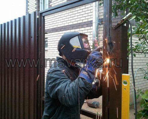 сварить забор на даче
