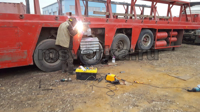 сварка и усиление рамы грузовой машины