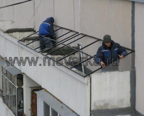сварочные работы на дому. Ремонт балкона.