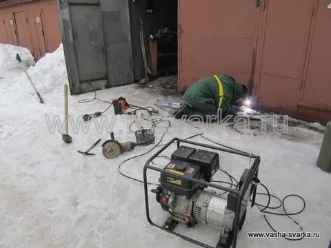 ремонт ворот и сварка от генератора