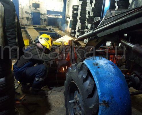 ремонт ковша на тракторе