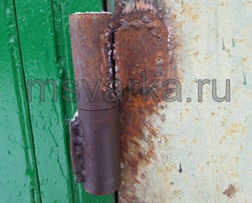 ремонт и сварка гаражных петель